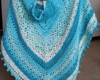 Crochet triangle shawl pattern