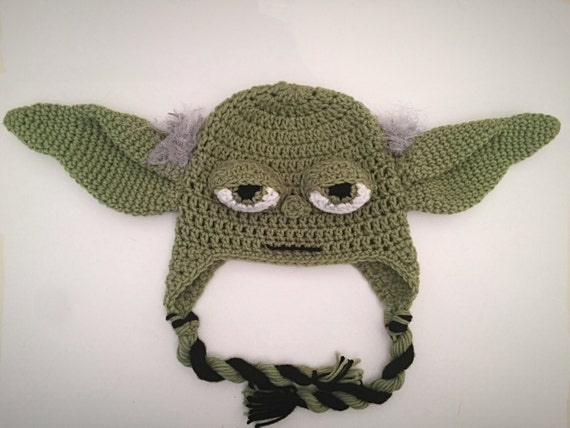 check out 0605d fc7e5 Crochet Star Wars Yoda Inspired Hat PATTERN   Etsy