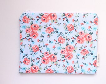 zippered pouch, clutch, wallet, floral pouch, purse organizer, bridesmaids gift, id pouch, colorful pouch