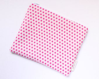 zippered pouch, clutch, wallet, polka dot pouch, purse organizer, bridesmaids gift, id pouch, pouch