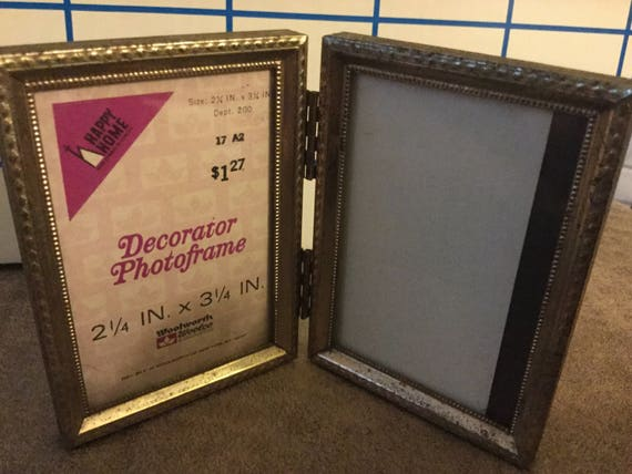 Happy Home Decorator Photoframe Woolworths Woolco Double Etsy