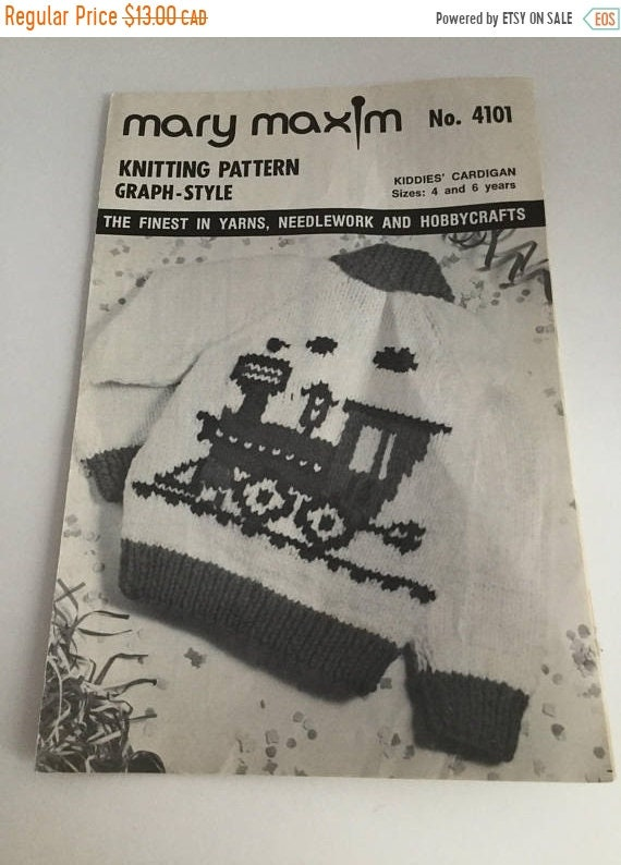 15 Off Sale Mary Maxim No4101 Knitting Pattern Graph Style