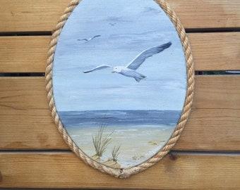 Spring Seagulls Flying At Seaside
