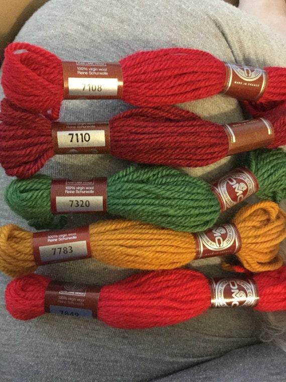 Laine Colbert Dmc Tapestry Wool 7108 7110 7320 7783 7849 Etsy