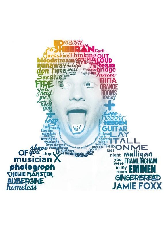 Kunst Ed Sheeran A3 Poster 1