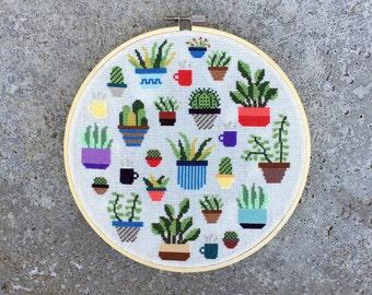 Botany - Modern cross stitch pattern PDF - Instant download
