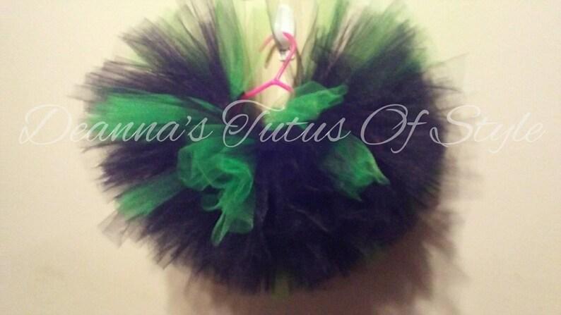 Smash Cake Tutu Set Emerald and Black Tutu With Tulle Bow Headband Photo Prop Tutu Set Size Newborn-3T Tutu Set Birthday Tutu Set