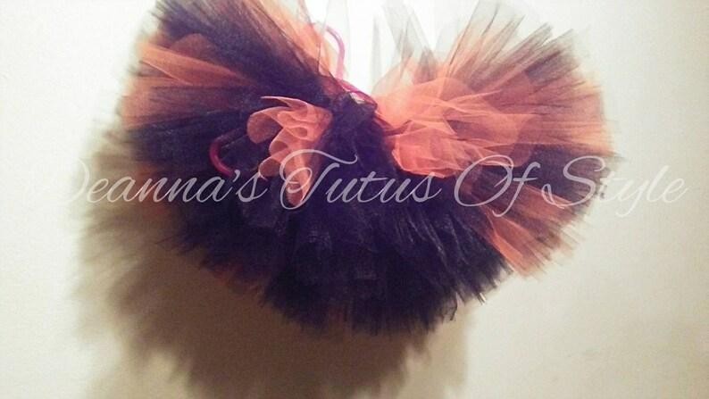 Size 0-3T Smash Cake Tutu Set Black and Orange Tutu /& Tulle Bow Headband Photo Prop Tutu Set Birthday Tutu Set Pumpkin Tutu Set