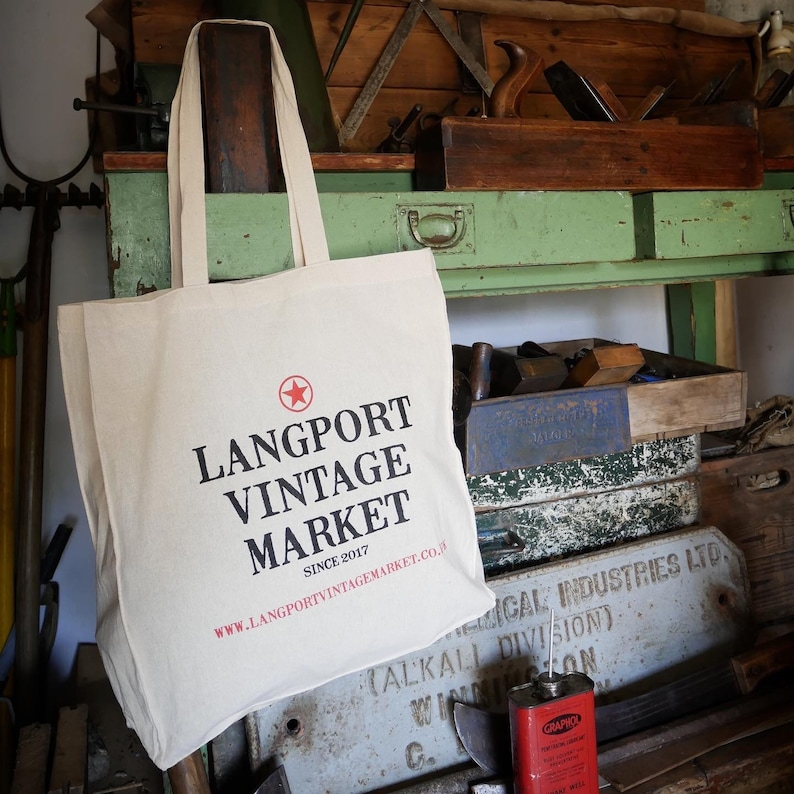 Cotton Tote Bag  Langport Vintage Market image 0