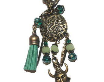 Keychain bag charm of Africa