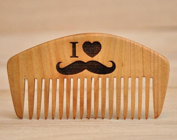 ich liebe schnurrbart holz kamm geschenk f r papa geschenk etsy. Black Bedroom Furniture Sets. Home Design Ideas
