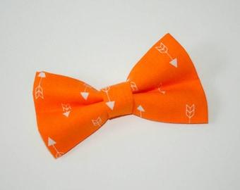 Dog BOW TIE, Dog Bowtie, Bow Tie, Arrow Bow Tie, Orange Dog Bow Tie, Orange