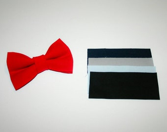 Dog BOW TIE, Dog Bow Tie, Bow Tie, Red Dog Bow Tie, Red, Navy Blue, Grey,  Baby Blue, Black