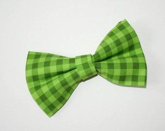 Dog BOW TIE, Dog Bowtie, Bow Tie, Plaid Bow Tie, Green Dog Bow Tie, Green