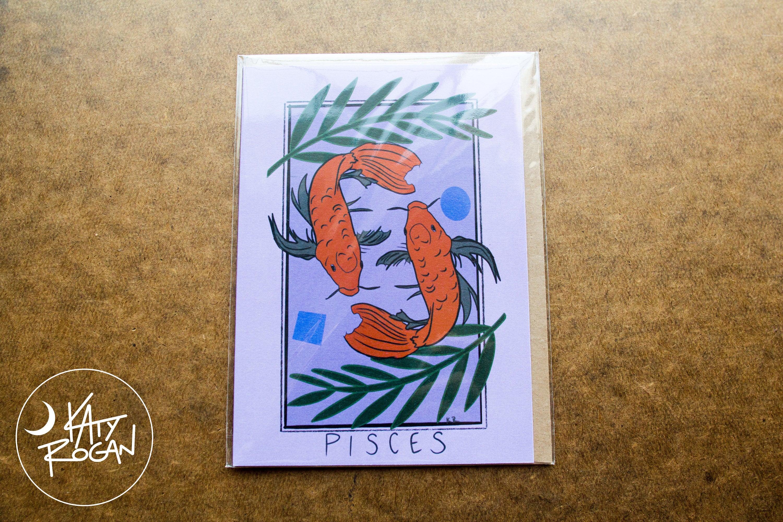 Pisces Tarot Card The Fish Zodiac Astrology   Etsy