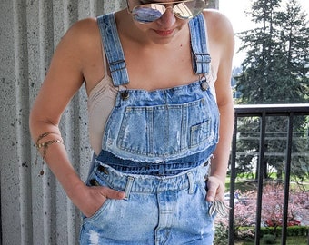 80370472c1 Women s Custom Denim Jean Cut Off Overalls Skirt - Size 2