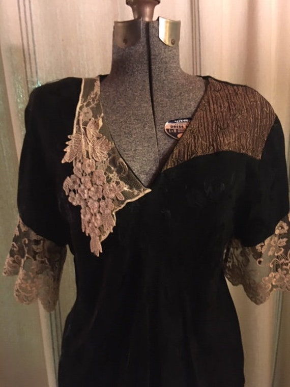 Black Victorian Blouse and Skirt