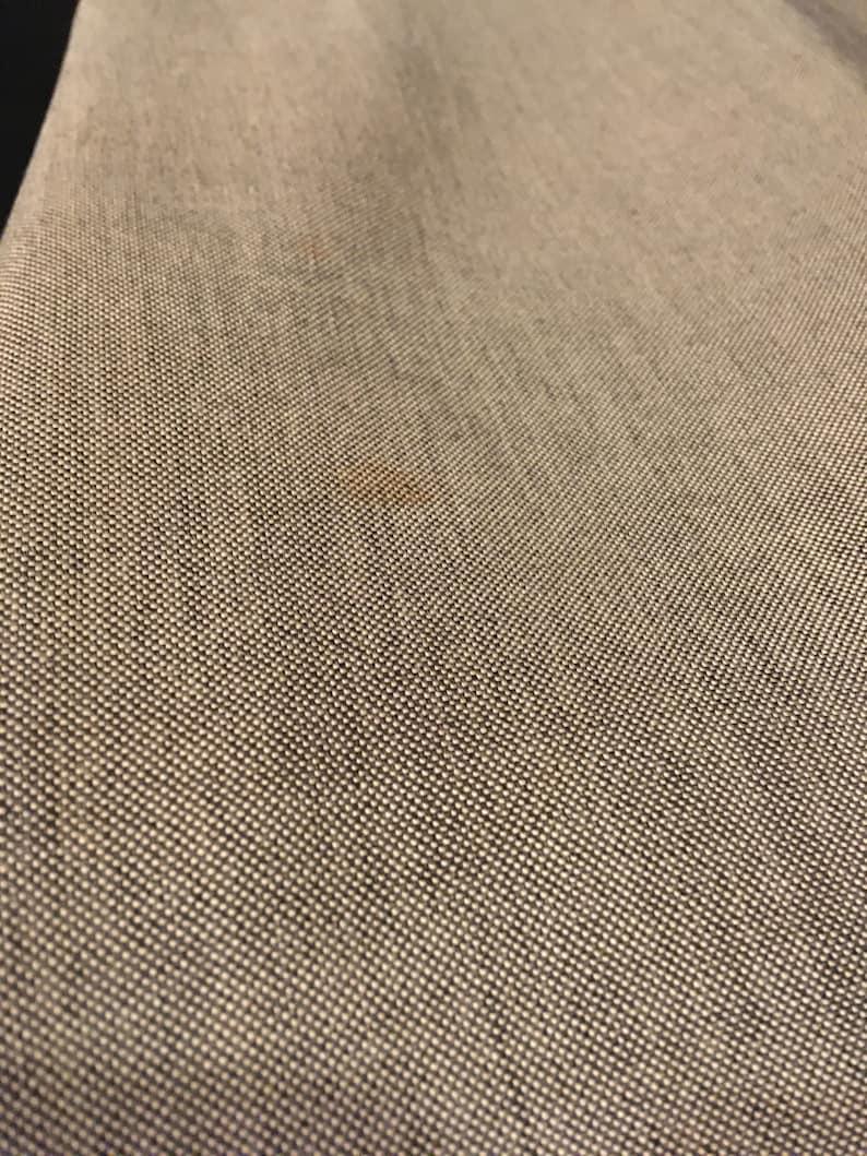 White Bow and Gray Linen Streetwear Linen Shift dress.