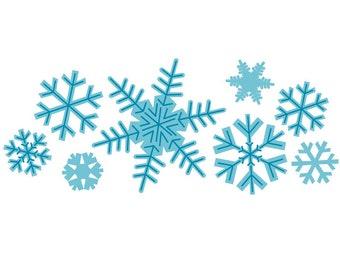 Snowflake Borders | Etsy