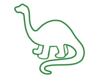 Dinosaur Outline Etsy