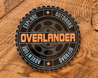 """STICKER Overlander Rugged Tire Circle 
