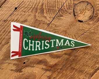 """STICKER Merry Christmas Pennant 