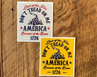"""STICKER 1 Don't Tread On Me 1776 