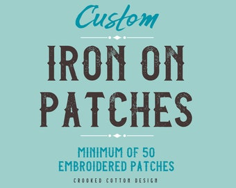 CUSTOM ORDER for Iron on Patches | minimum 50 | Thank You