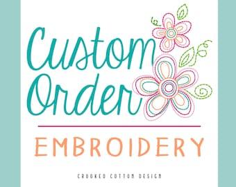 CUSTOM Embroidery Design - Custom Digitized Artwork for Embroidery