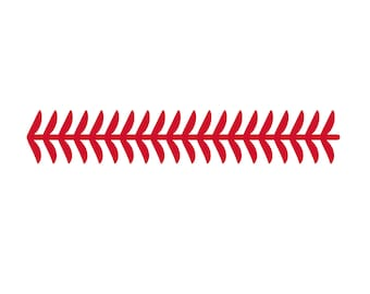 SVG Clipart Straight Baseball or Fastpitch or Softball Stitches Laces | Cutting Machine Art