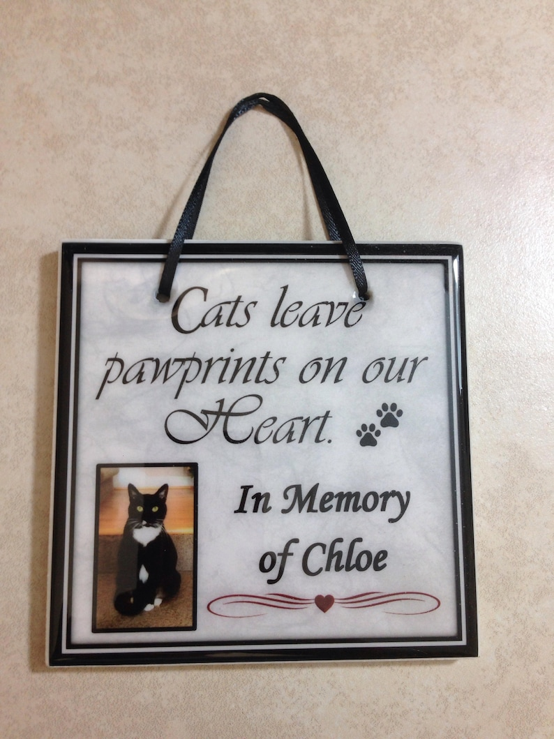 Cat Memorial Gift In Memory Of Cats Leave Pawprints Etsy