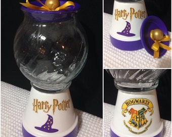 Harry Potter Gift Candy Jar Gumball Machine Hogwarts Custom Personalized Gift