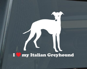 Mister Petlife I Love My Whippet Sticker Vinyl Auto Window v2 English