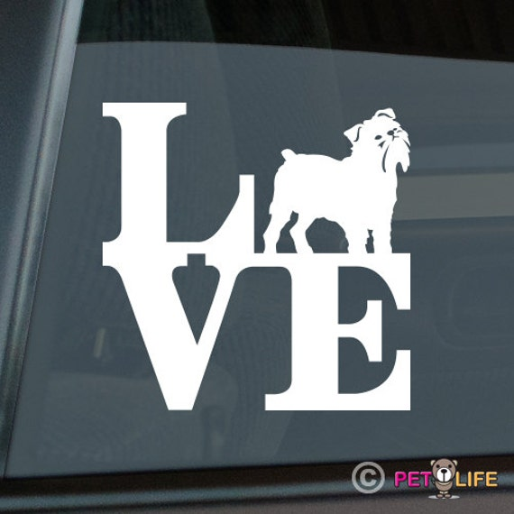 Mister Petlife Brussels Griffon Sticker Vinyl Auto Window Bruxellois