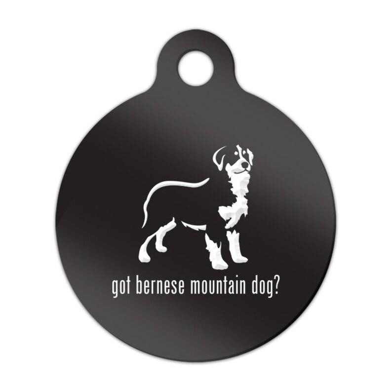 Got Bernese Mountain Dog Engraved Round Key Chain Dog Tag berner MRD-475