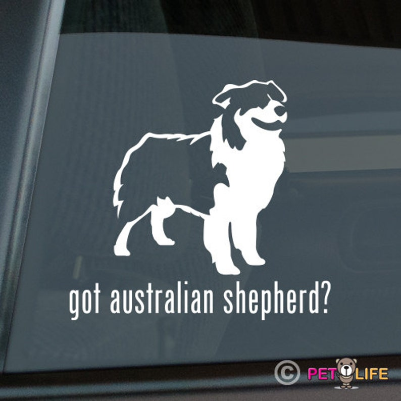 #2 dog aussie In Case of Emergency Rescue My Australian Shepherd Sticker Vinyl