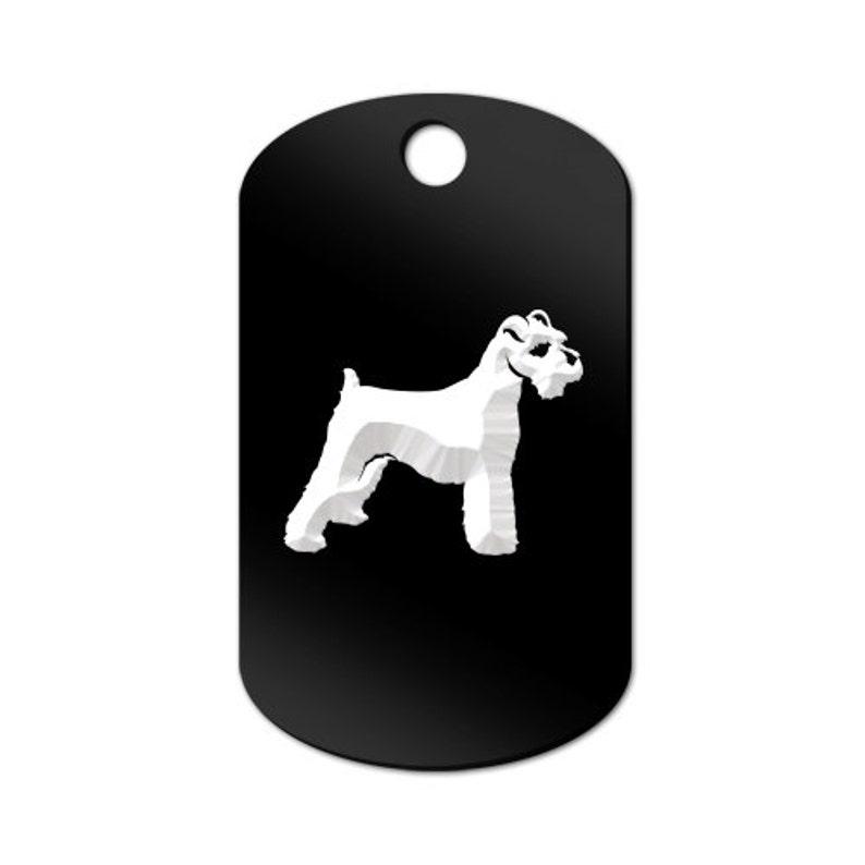 Schnauzer Engraved GI Tag Key Chain Dog Tag MDT-1014