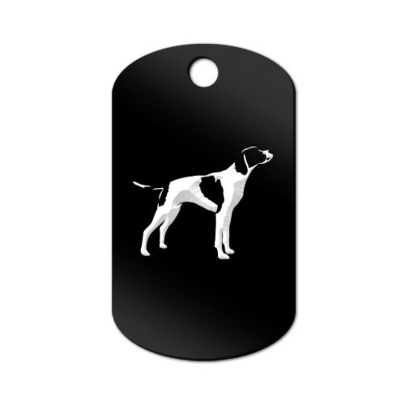 English Pointer Engraved GI Tag Key Chain Dog Tag MDT-1170