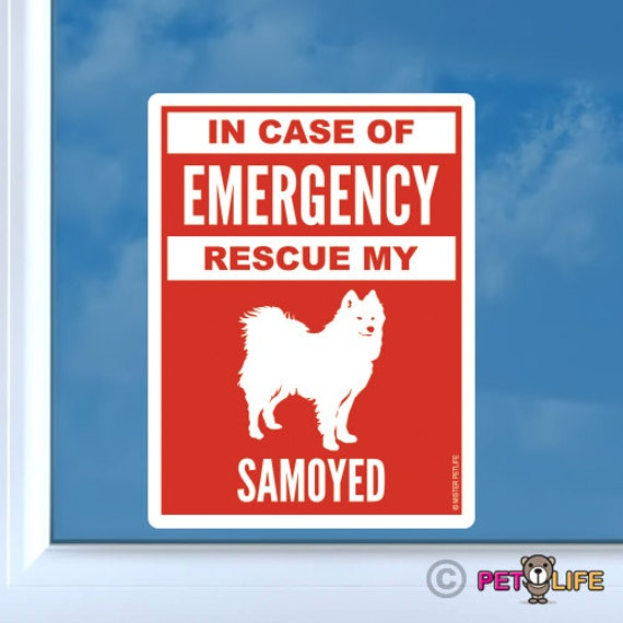 Mister Petlife Samoyed Sticker Vinyl Auto Window Sammy