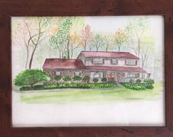 Custom House Painting Home Portrait