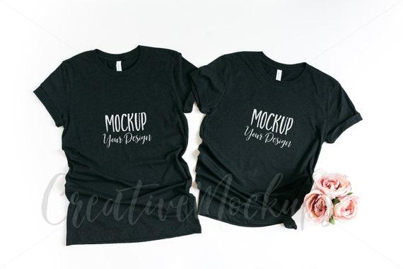 Bella And Canvas Black T Shirt Mockup 3001 His 64848 Mockups