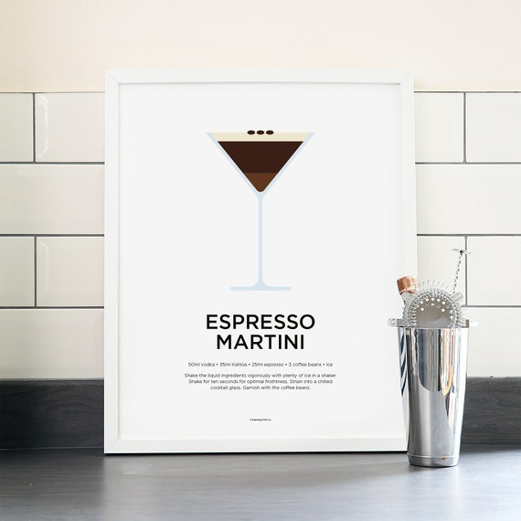 Espresso Martini Cocktail Print Cocktail Art Cocktail Etsy