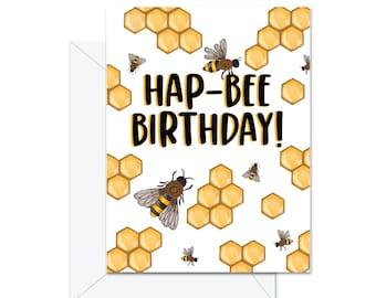Hap-bee Birthday - Greeting Card