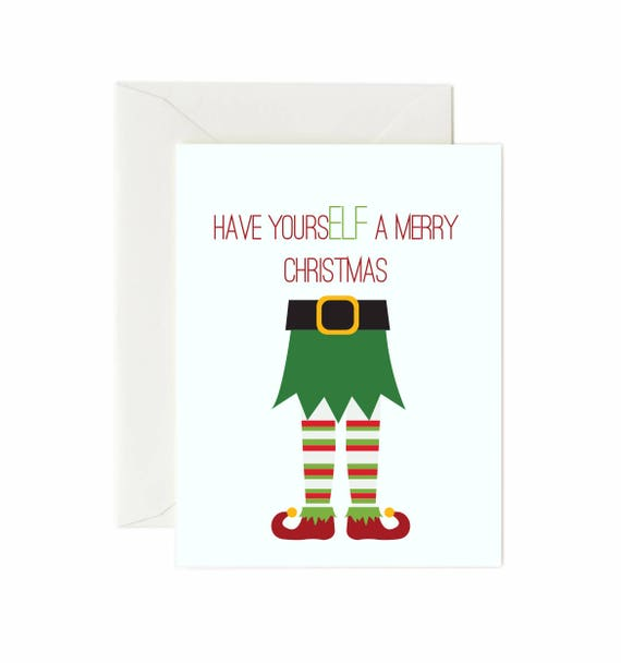 Elf have yourself a merry christmas greeting card etsy image 0 m4hsunfo