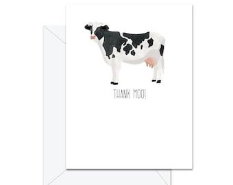 Thank Moo - Greeting Card