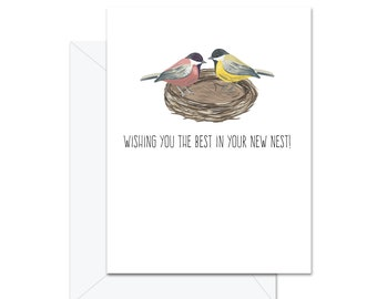 Wishing You The Best In Your New Nest - Greeting Card