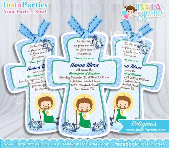 invitaciones bautizo niño tarjetas confirmación imprimibles etsy