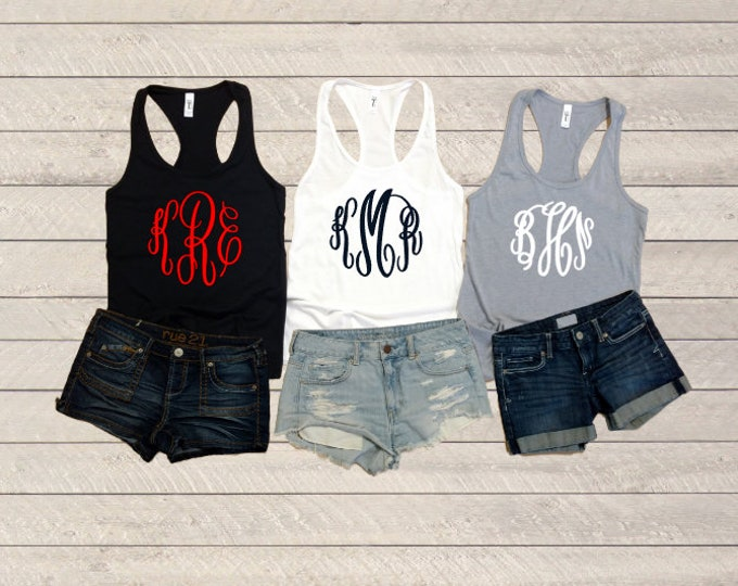 Monogram Tank Tops | Summer | Bridesmaid | Workout Tank