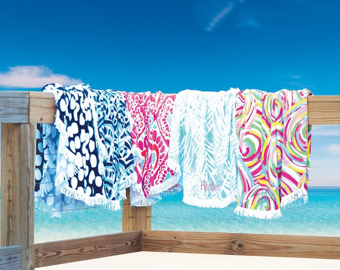 Summer Sand Circle Towels