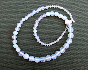 Graduated Facetted Opalite Bead Necklace